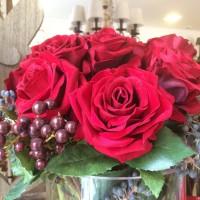 Rosa roja artificial, perfecta imitación. Gran calidad.