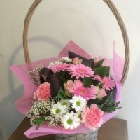 Cesta con flor natural 50€